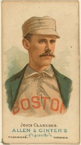 John Clarkson, former member of the 1882 Worcester Ruby Legs. Because mustache.