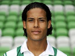 "Virgil van Dijk and his piercing ""how you doin'"" look."