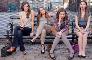 L to R: (The boringly named) Allison Williams, Jemima Kirke, Lena Dunham and Zosia Mamet