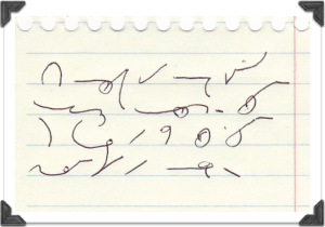 This might be what important shorthand looks like. I wouldn't have believed it if I hadn't written it myself.