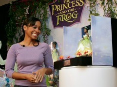 "Anika Noni Rose at the unveiling of the ""Princess Tiana"" Barbie"