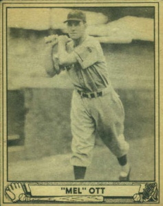"Thank you 1940's baseball card makers for the quote marks. I wouldn't have had a clue that ""Mel"" is short for something."