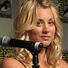 Kaley Cuoco speaking at Big Bang Theory forum at ComicCon in 2008.  Yes, they really went there.