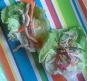 Cute little lettuce wraps.