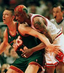 See what I mean? Detlef looked odd for a basketball player!