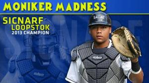Would a Sicnarf Loopstok by any other name be as awesome? No. He would not. (Photo: MiLB.com)