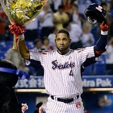 Even more impressively, Balentien broke the record using flowers instead of a bat.
