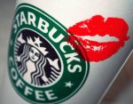 starbucks with a kiss
