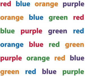 You have just experienced the Stroop effect!