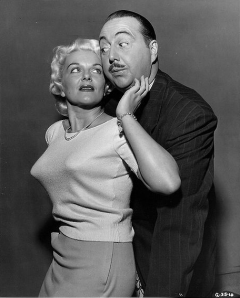 Willard Waterman and Stephanie Griffin from TV's The Great Gildersleeve. Obviously she wasn't wearing a Gildersleeve.