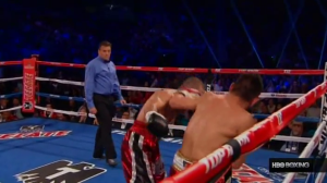 This is the left hook that knocked out Darchinyan.