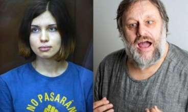 "In addition to being an exceptional photo, this had an exceptional caption, so I'll just borrow that. "" 'We are the children of Dionysus, sailing in a barrel and not ­recognising any authority' … Nadezhda Tolokonnikova of Pussy Riot writing to Slavoj Žižek."""