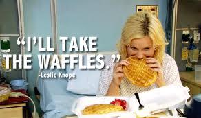 Leslie likes waffles.