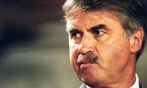 This is Guus Hiddink, and marvelous mustache he used to wear. Bring back the stache, Guus!