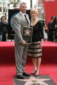 KMA club founder Vince McMahon, with wife Linda, at Vince's Hollywood Walk of Fame star ceremony.