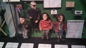 Claymation figurines of Layne Staley and the other members of Alice in Chains.
