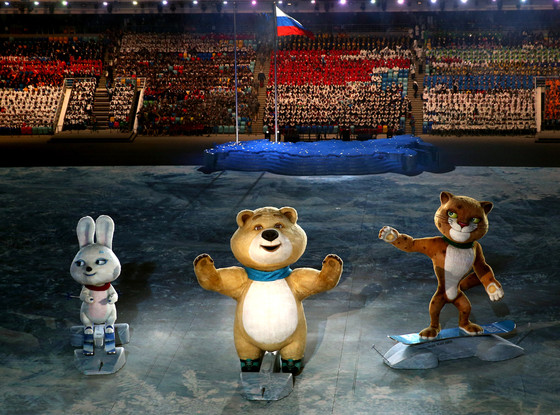 "The brown Olympics ""Polar"" bear is proud too, I think..."