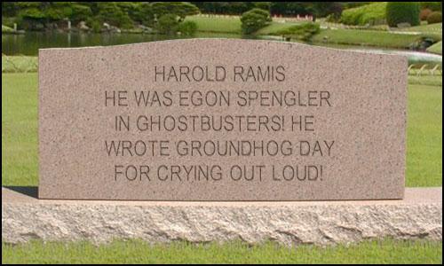 Harold Ramis tombstone