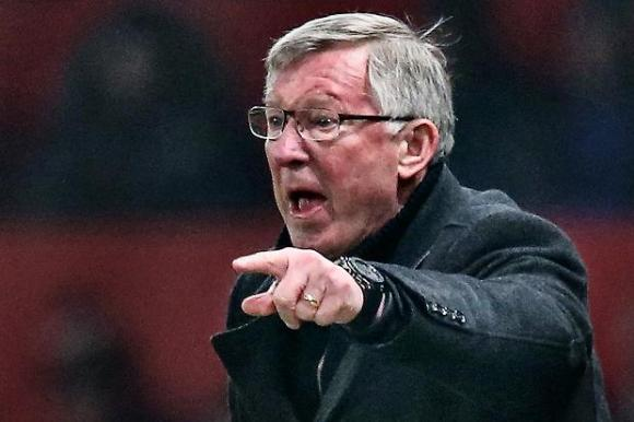 Sir Alex, presumably telling someone to go over there instead of that place they were mistakenly standing.