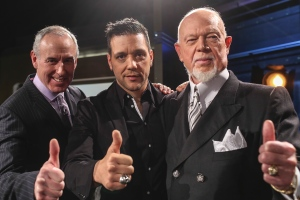"Strombo Looking Like a Member of the Hockey Night in Canada Team (with Don ""Grapes"" Cherry!)"