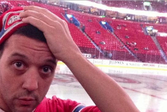 Strombo Looking like a confused Canadiens fan