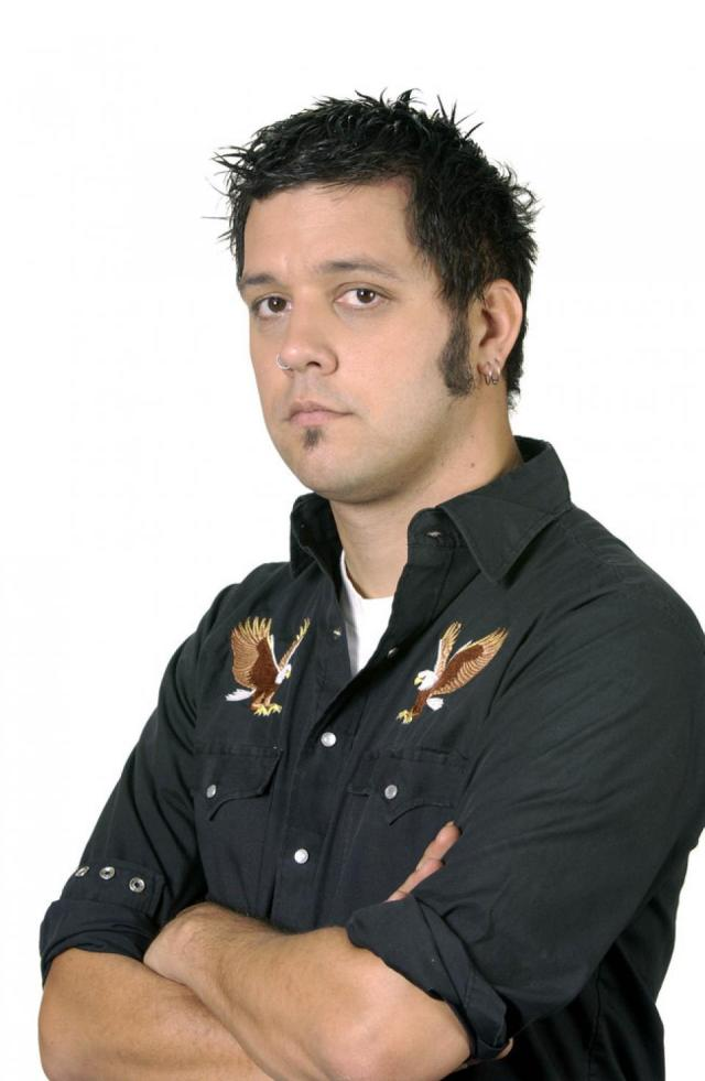 Strombo looking like a bowling league champion