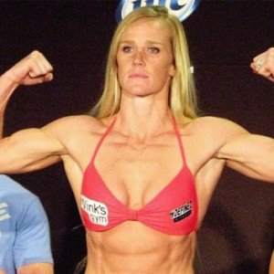 "She used to box as ""Hottie"" Holly Holm. And she can kill you with her fists."