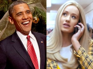 "A pretty fancy photo array. And in case ""Fancy"" isn't your summer earworm of choice, maybe Iggy is telling Barack to ""Call Me Maybe."" Whatever happened to Carly Rae Jepsen anyway?"