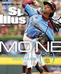 Mo'ne Davis on the cover of Sports Illustrated. Only slightly cooler than my team's picture going on my mom's fridge when I was 13.