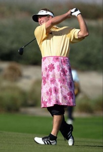 Make a bet with a really good woman golfer and here's what happens. (Getty Images)