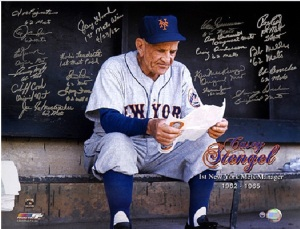 Casey Stengel as he managed the New York Mets. (From theguycornernyc.com)