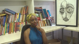 Chimamanda and her funny-faced 2-dimensional friend!