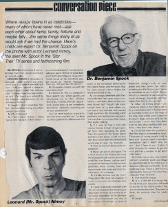How wonderful that Parade Magazine interviewed Spock and Spock in 1977. (Getty Images)