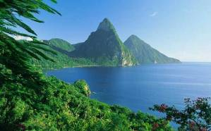 In case you've never heard of St. Lucia, it's one of these types of places. Yeah. Nice.