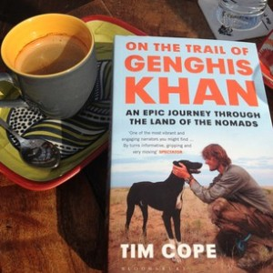 This is about as close to coffee with Genghis Khan as I could get.