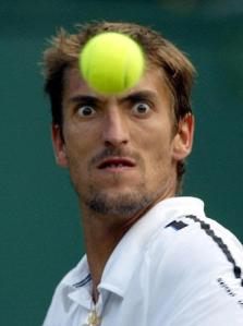 Funny image of a tennis ball