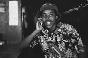 Earl Sweatshirt, pictured not wearing a sweatshirt.