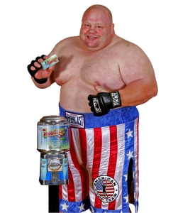 Butterbean - a big man, with big talent, a big personality, and a candy machine to advertise!