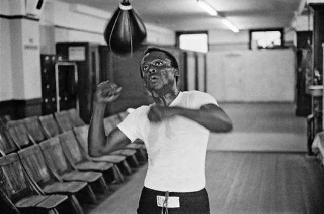 Miles Davis hitting the speedbag!