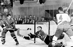 The puck stops here, said Gump Worsley. (Getty Images)