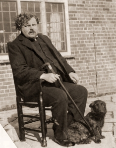 Man and dog on chair