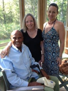 Ursula Goodenough chillin' with her daughter and Harry Belafonte. That's gooder than good!