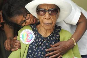 Susannah Mushatt Jones lookin' cool on her 113th birthday. She saw more history first-hand than most History Channel-watching couch potatoes will ever witness! RIP Susannah, and I hope there's bacon in heaven.