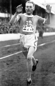 Paavo Nurmi at the Antwerp games in 1920.